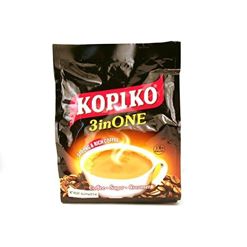 Kopiko 3 in 1 Instant Coffee, 21.2 oz, 30 Sachets