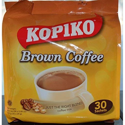 Kopiko Instant 3 in 1 Brown Coffee Mix with Creamer and Sugar 30...