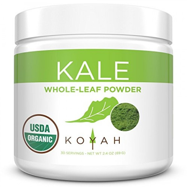 KOYAH - Organic USA Grown Kale Powder Equivalent to 30 Cups Fre...