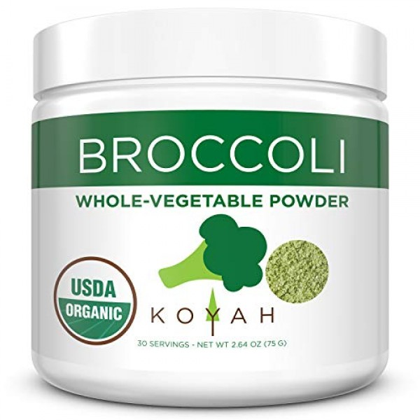 KOYAH - Organic USA Grown Broccoli Powder 1 Scoop Equivalent to...