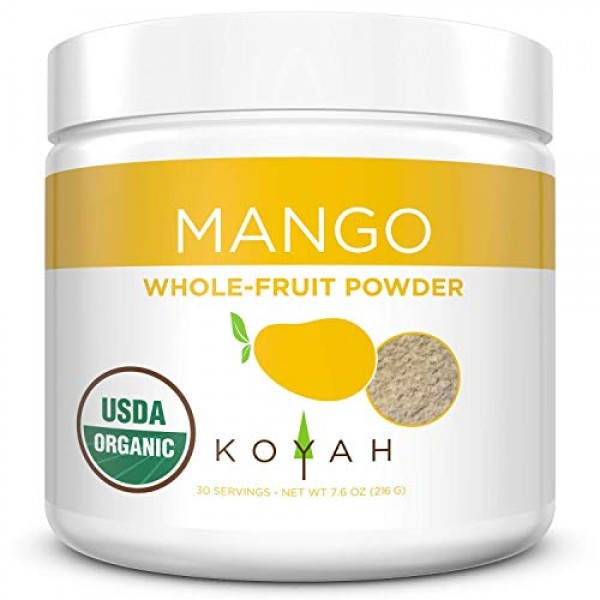 KOYAH - Organic Freeze-dried Mango Powder 1 Scoop = 1/4 Cup Fre...