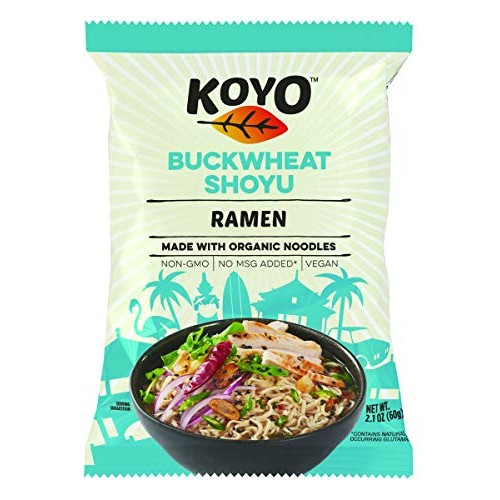 KOYO Soba Ramen Made with Organic Noodles, 2.1 Ounce Pack of 12