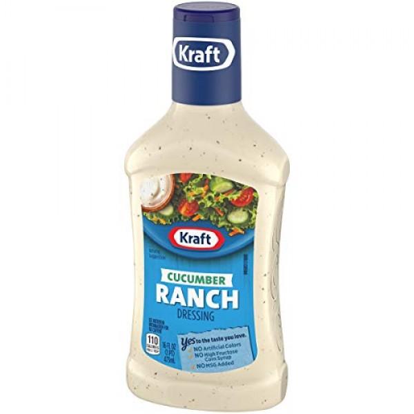 Kraft Cucumber Ranch Anything Dressing, 16-Ounce Plastic Bottles...