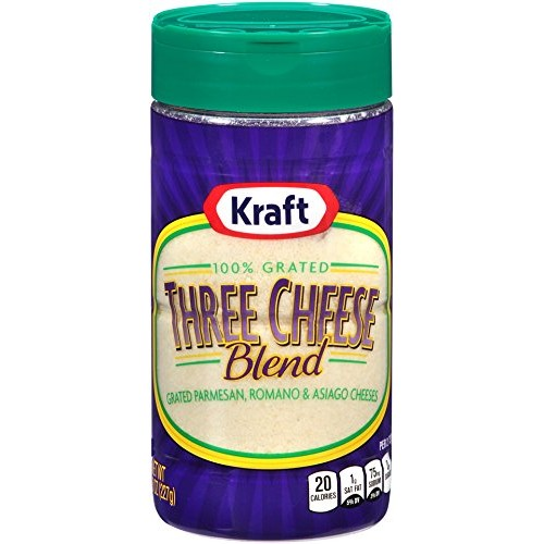 Kraft Cheese 100% Grated Three Cheese Blend, 8 oz