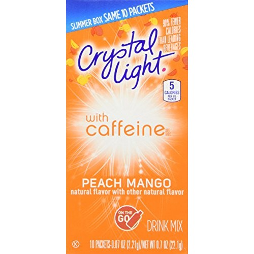 Crystal Light Energy Peach Mango on the Go Pack of 2