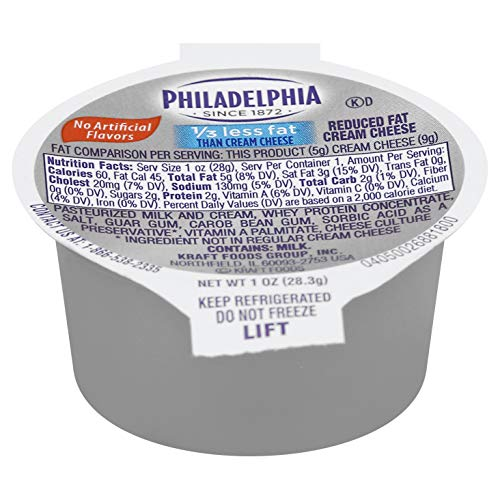 Philadelphia Light Cream Cheese Cups 1 ounce Pack of 100