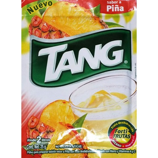 3 X Tang Pina Flavor No Sugar Needed Makes 2 Liters of Drink 15g...
