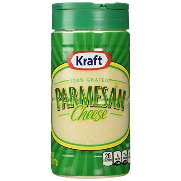 Kraft 100% Grated Parmesan Cheese, 8 oz