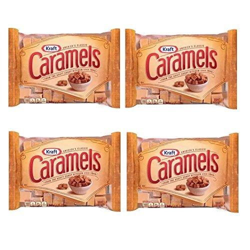 Kraft, Vanilla Caramels, Individually Wrapped, 11oz Bag Pack of 4