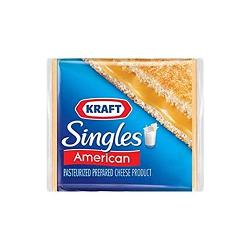 Kraft Cheese American Singles Yellow 8 OZ Pack of 3
