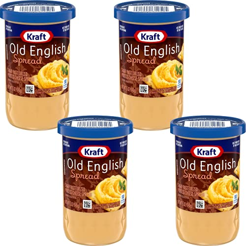 Kraft Cheese Spread, Old English 5 Oz Pack of 4