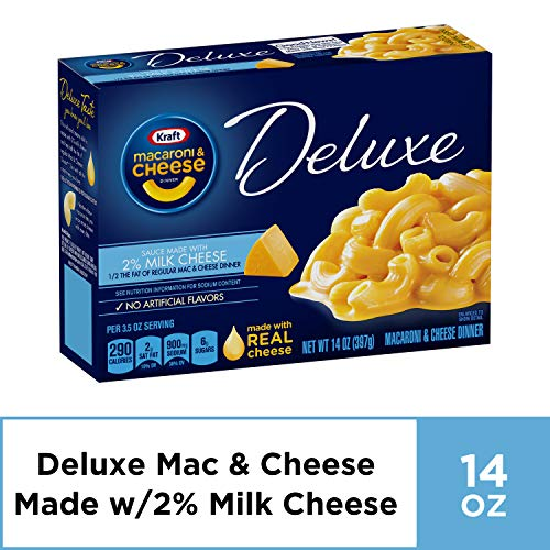Kraft Deluxe Macaroni and Cheese Dinner with 2% Milk Cheese, 14 ...
