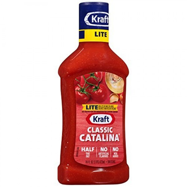Kraft, Lite, Classic Catalina Dressing, 16oz Bottle Pack of 3
