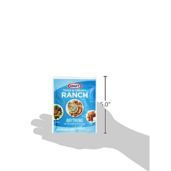 Kraft Thick & Creamy Ranch Dip, Dressing & Recipe Mix 1 oz Packet