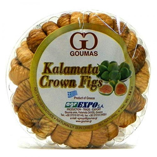 Dried Figs, Kalamata Crown, KRINOS, 14oz 99038