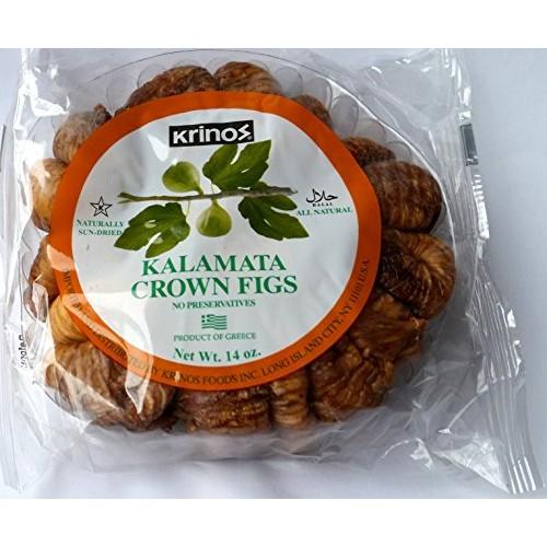 Krinos Kalamata Crown Figs - Pack of 2 - 14 Oz - Halal- Naturall...