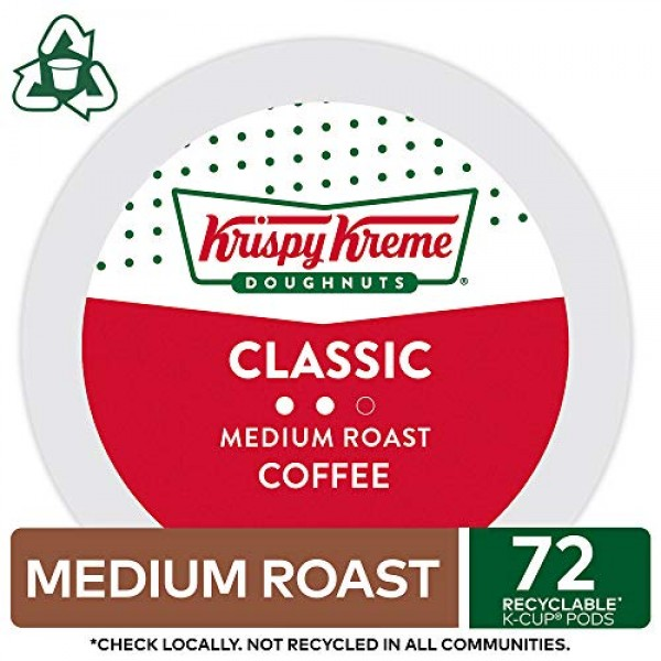 Krispy Kreme Classic, Single-Serve Keurig K-Cup Pods, Medium Roa...