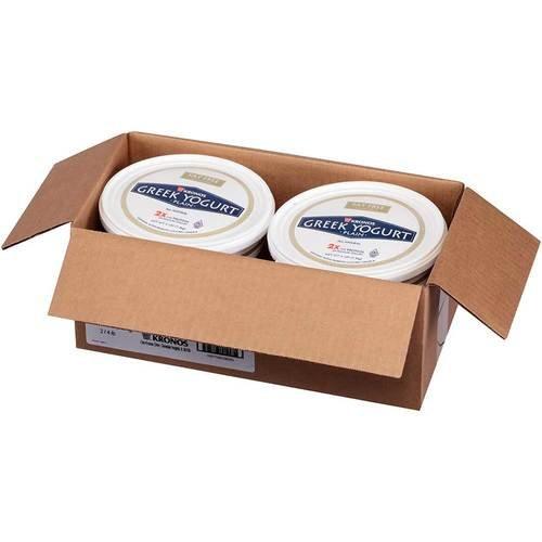 Krono Nonfat Plain Greek Yogurt, 4 Pound - 2 per pack -- 2 packs...