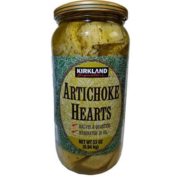 Kirkland signature artichoke hearts marinated in oil 33 oz