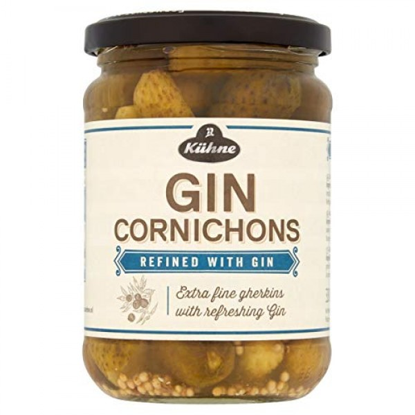 Kuhne Crafted With Gin Cornichons, 12.5 Oz, 2 PACK, Product Of...
