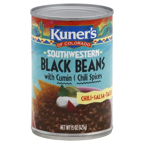 Kuners Black Beans with Spices, 15-ounces (Pack of12)