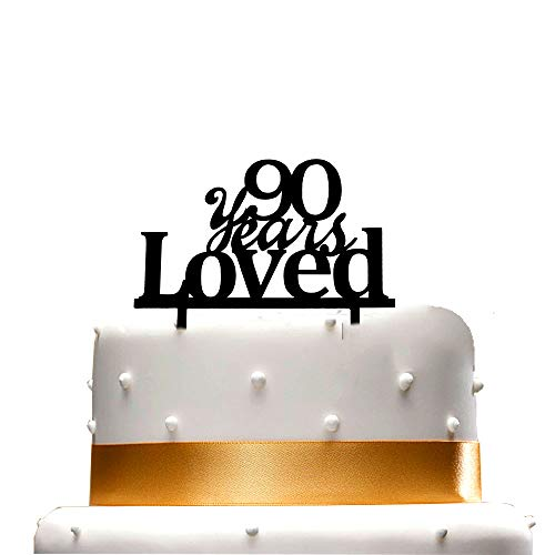 90 Years Loved Cake Topper,90th Birthday Wedding Anniversary Par...