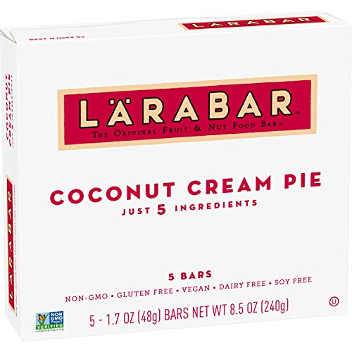 Larabar Gluten Free Bars, Coconut Cream Pie, 1.7 oz Bars (5 Count)