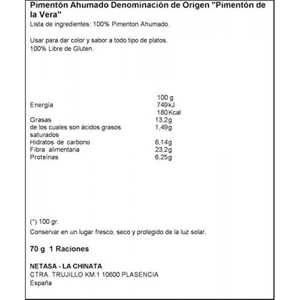 La Chinata Smoked Paprika Sweet, 2.47 Ounce