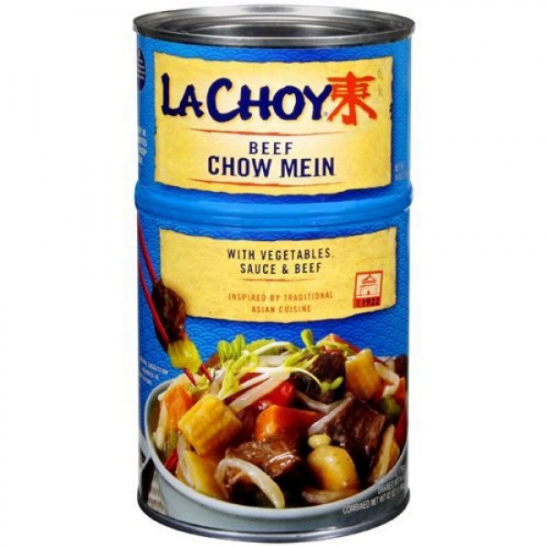 La Choy BEEF CHOW MEIN w/Asian-Style Vegetables 42oz 2 pack