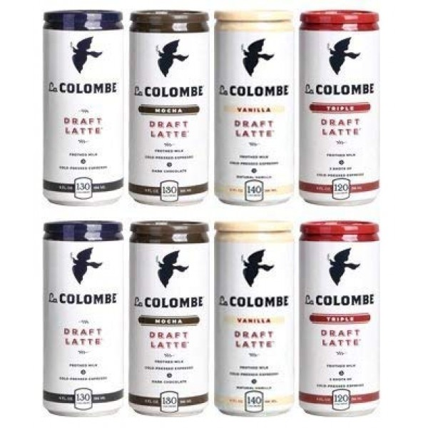 LaColombe La Colombe Draft Latte 9oz 4 Flavor Mix Pack of 8