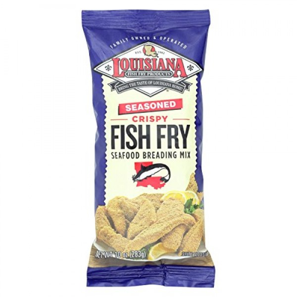 Louisiana Fish Fry Seasoned Seafood Breading Mix, 10 oz