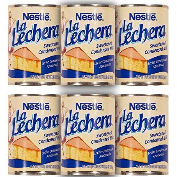 La Lechera Sweetened Condensed Milk 7 Ounce Pack of 6