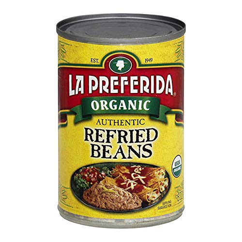 La Preferida Organic Refried Beans, 15 oz Pack - 6
