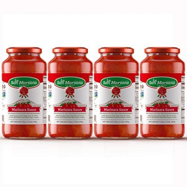 Marinara Pasta Sauce 100% Product of Italy 24 Ounce Jars - 100% ...