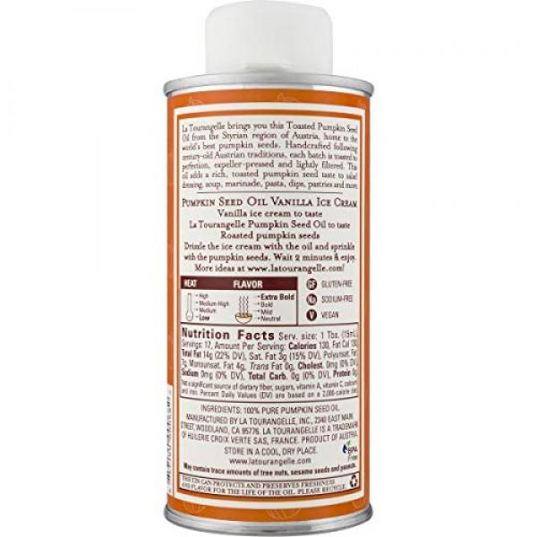 La Tourangelle Toasted Pumpkin Seed Oil 8.45 Fl. Oz., All-Natura...