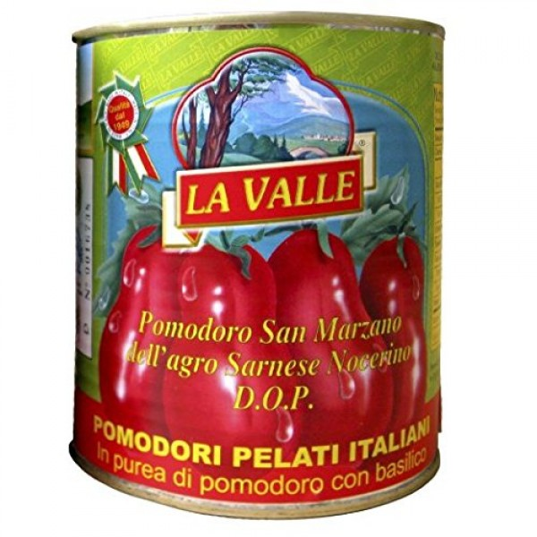 La Valle San Marzano D.O.P. Italian Peeled Tomatoes 6-pack of 28...