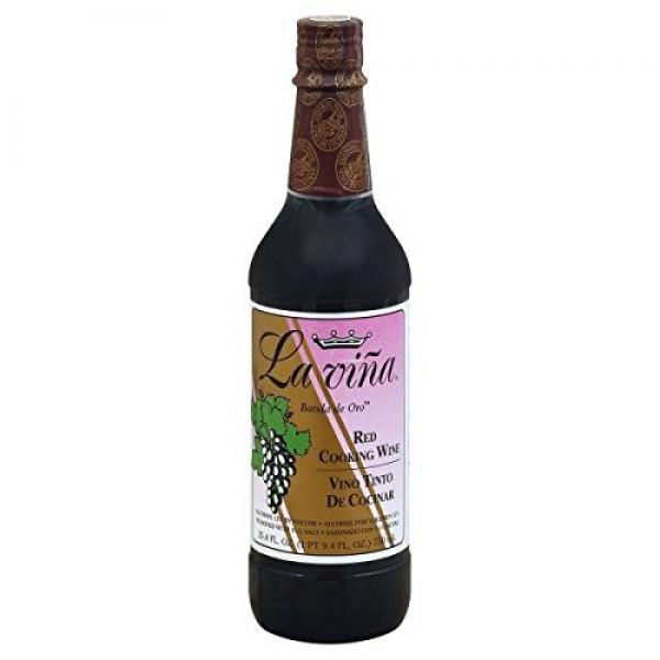 La Vina Cooking Wine, Red 25.4oz, Vino Tinto de Cocinar
