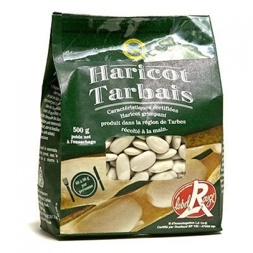 Label Rouge Dry French Tarbais Beans Red Label Haricot Tarbais...