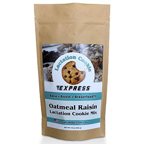 All Natural Oatmeal Raisin Lactation Cookies Mix for Breastfeedi...