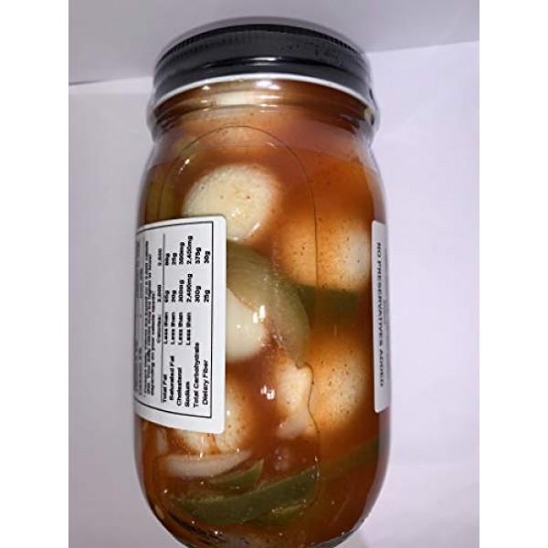 Authentic Cajun Spicy Pickled Quail Eggs