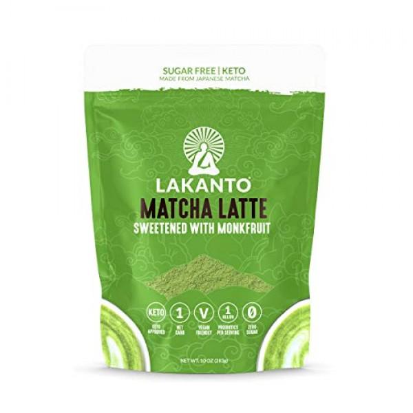 Lakanto Matcha Latte, Green Tea Powder with Probiotics and Fiber...