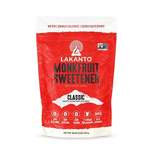 Lakanto Monkfruit Sweetener, 1:1 Sugar Substitute, Keto, Non-GMO...
