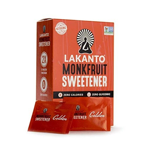 Lakanto Sugar Free Golden Monkfruit Sweetener, 3.17 Ounce - 30 p...