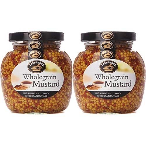Lakeshore Plain Wholegrain Irish Mustard, 7.2oz per jar