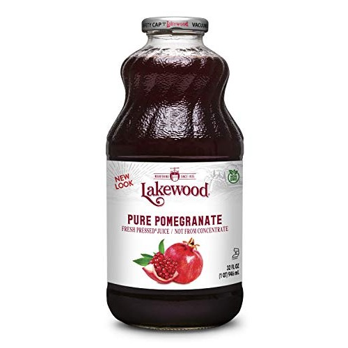 Lakewood PURE Pomegranate Juice, 32-Ounce Bottles Pack of 6