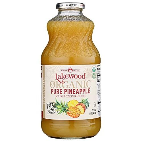 Lakewood Pure Pineapple, Fresh Pressed 32 Oz, 6 Pack
