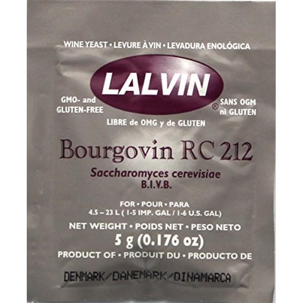 Lalvin Bourgovin RC 212 Wine Yeast, 5 grams - 5-Pack