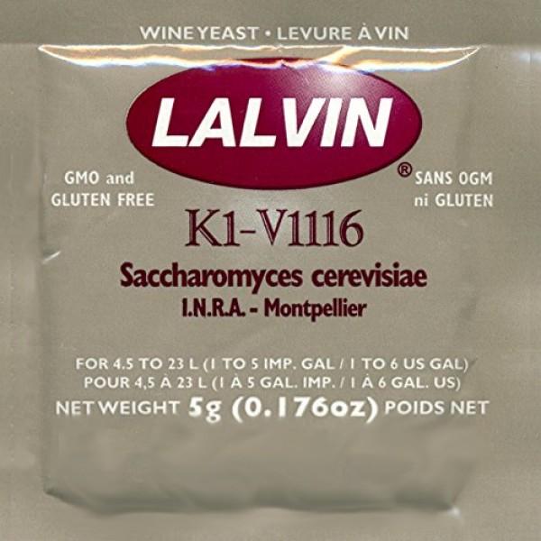 Lalvin K1V-1116 Wine Yeast - 10-Packs