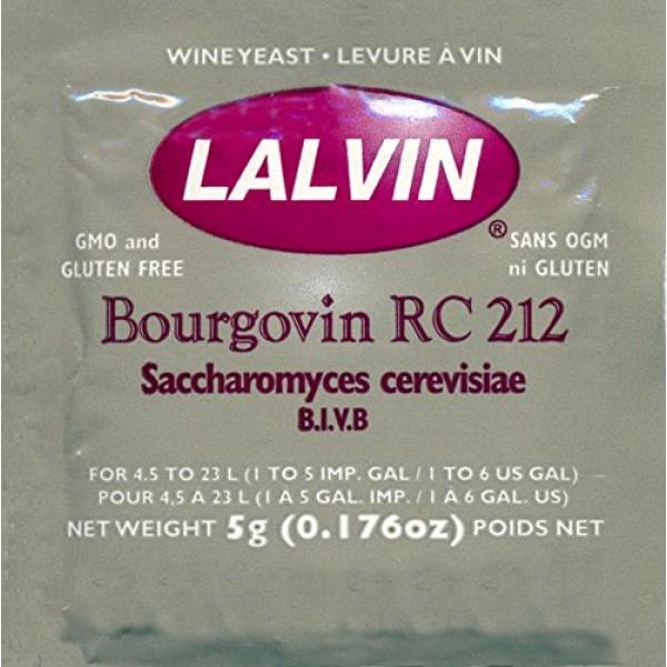 Lalvin RC 212 Wine Yeast, 5 grams - 10-Pack