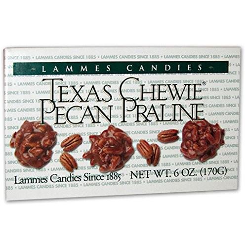 Lammes Candies Texas Chewie Pecan Praline Pack of 2, 6 Oz. Ea.